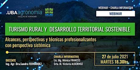 Turismo rural y Desarrollo Territorial Sostenible entradas
