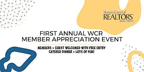 WCR Member Appreciation Event tickets