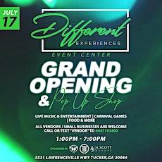 Different Experiences Event Center Pop Up Shop tickets