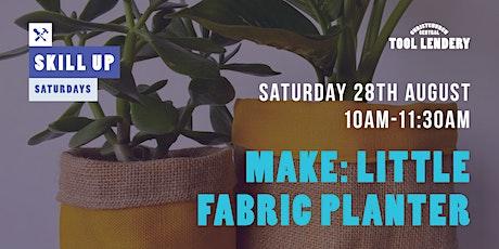 MAKE: Little fabric planter tickets
