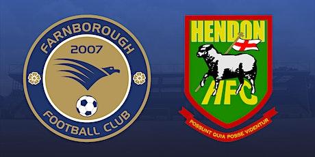 Farnborough v Hendon tickets