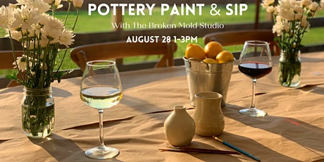 Pottery Paint & Sip at June Farms! tickets