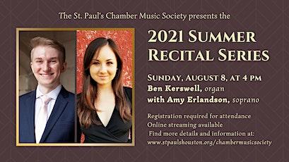 Summer Recital Series - Ben Kerswell and Amy Erlandson tickets