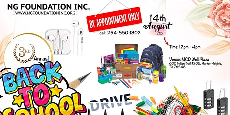 3rd Annual Back To School Drive tickets