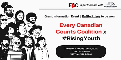 Every Canadian Counts Coalition x #RisingYouth Grant Information Session tickets