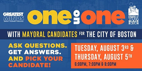 One-On-One with Boston Mayoral Candidates - Greatest MINDS tickets