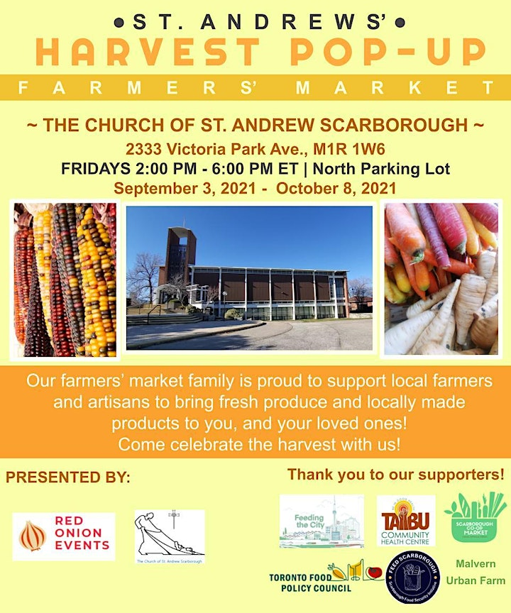 The St. Andrew Harvest Pop-Up Farmers' Market image