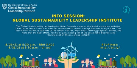 Global Sustainability Leadership Institute Information Session tickets