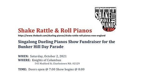 Dueling Pianos are coming to the Charlestown Knights of Columbus tickets