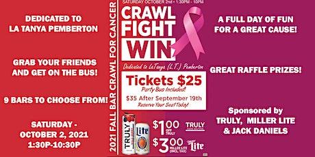 CRAWL!  FIGHT!  WIN!  14th Annual Fall Gahanna/Columbus Area Bar Crawl! tickets