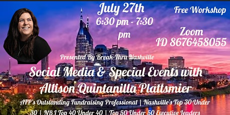 Social Media and Special Events tickets