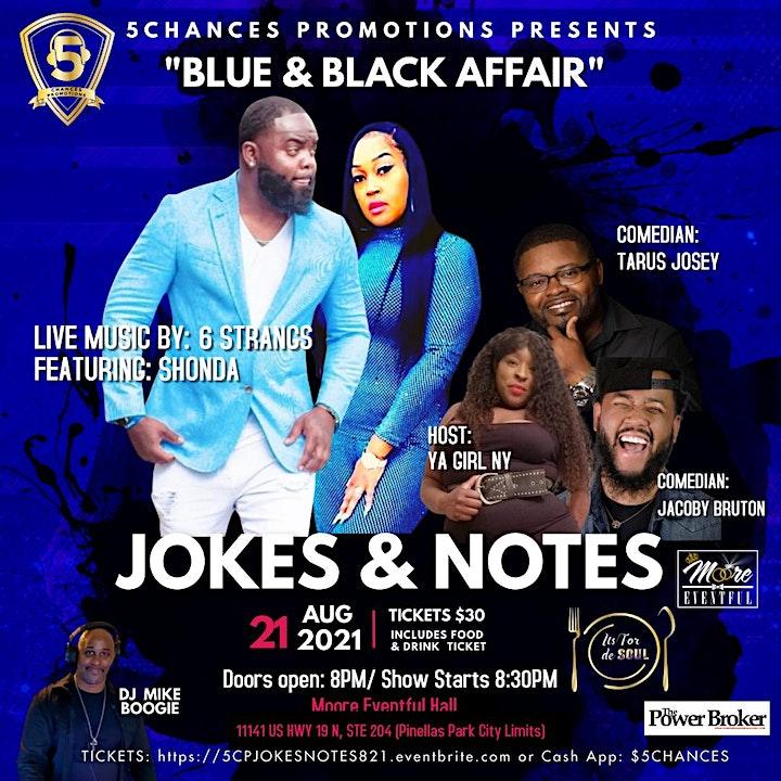 """5Chances Presents Jokes & Notes """"A Black & Blue Affair"""" image"""