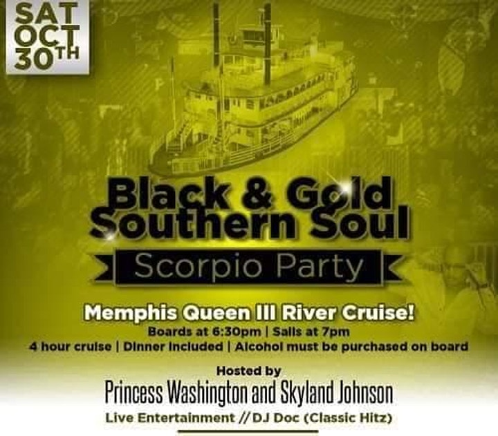 Black and Gold Southern Soul Scorpio Party featuri image