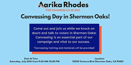 BIG Canvassing Day with Aarika Rhodes tickets