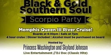 Black and Gold Southern Soul Scorpio Party featuri tickets