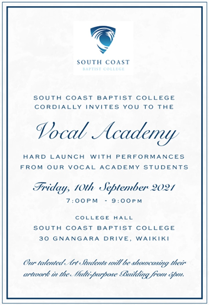 SCBC Vocal Academy Hard Launch image