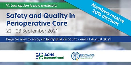 Safety & Quality in Perioperative Care tickets