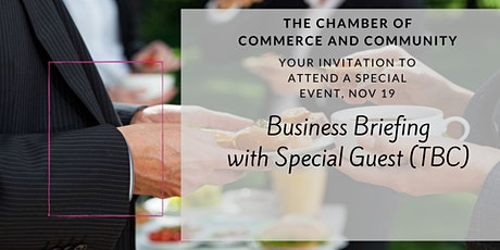 Business Briefing Breakfast November 19 - Chamber Of Commerce And Community tickets