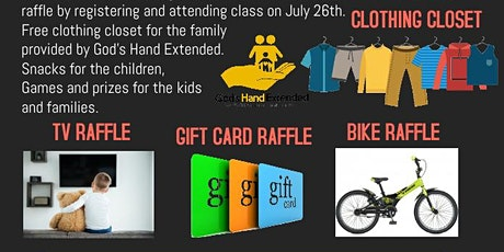 LAST DAY OF HEALTH & WELLNESS CLASS CELEBRATION! RAFFLE  PRIZES, CLOTHING + tickets