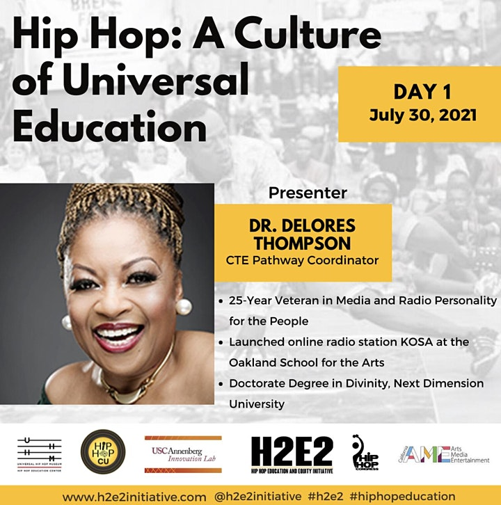 """H2E2 Summer Institute presents """"Hip Hop: A Culture of Universal Education"""" image"""
