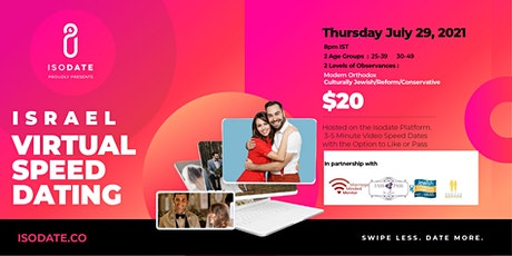 Isodate's Israel Jewish Virtual Speed Dating Event. tickets