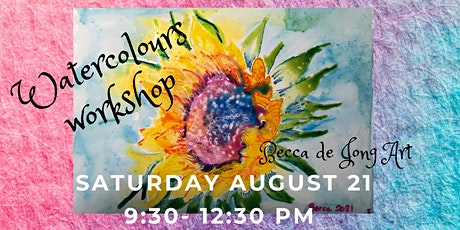 Sunflower Painting With Watercolour Pencils tickets