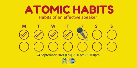 Online Public Speaking Extravaganza: Atomic Habits of an Effective Speaker tickets