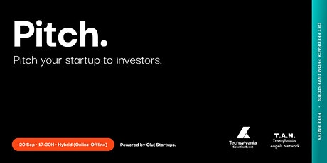 Pitch your startup to investors tickets