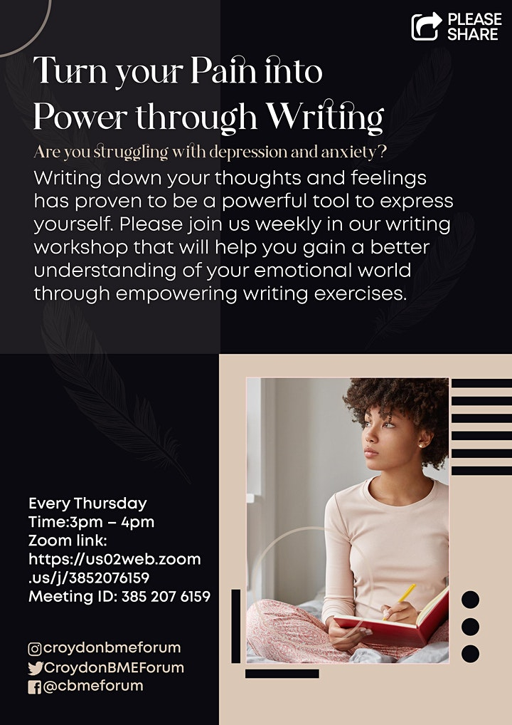 Turn your pain into power through writing image