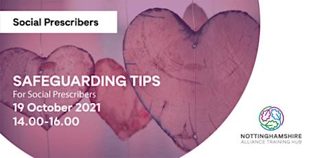 Safeguarding tips for social prescribers tickets