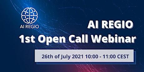 AI REGIO 1st Open Call Webinar tickets