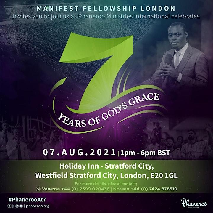 Manifest Fellowship London Celebration - 7 Years of God's Grace image