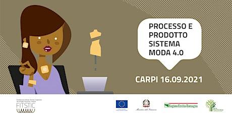 2021 OPEN DAY CARPI - Processo e prodotto del sistema Moda biglietti