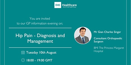 Hip Pain - Diagnosis and Management tickets