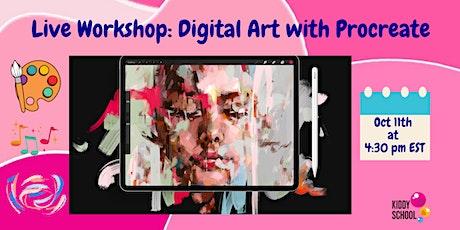 Virtual Class: Digital Art with Procreate tickets
