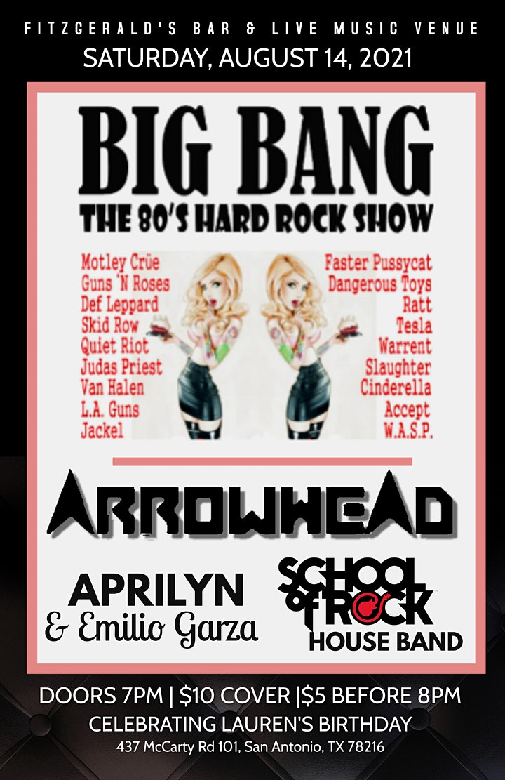 Big Bang w/ guest Arrowhead, APRILYN, and School of Rock House Band image