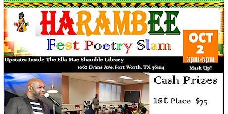 The 12th Annual Harambee Fest Poetry Slam tickets