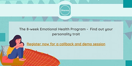 Emotional Health Program- Discover Your Personality Trait tickets