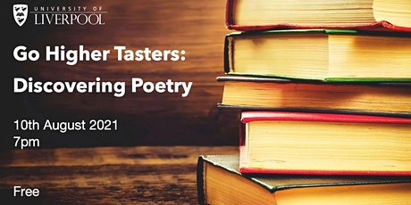 Go Higher Tasters: Discovering Poetry tickets
