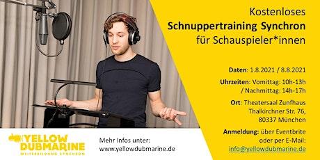 Kostenloses Schnuppertraining Synchron für Schauspieler*innen (München) tickets