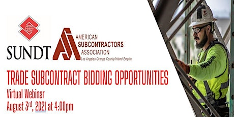 Bidding Opportunities with Sundt Construction tickets