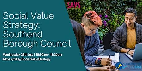 Social Value Strategy: Southend Borough Council tickets