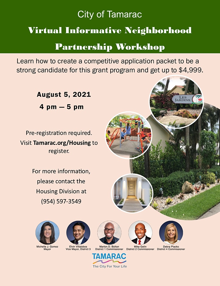 Virtual  Informative Neighborhood Partnership Workshop image