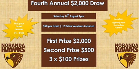 Noranda SFC's 4th Annual $2,000 Draw tickets