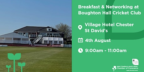Breakfast & Networking at Boughton Hall Cricket Club tickets