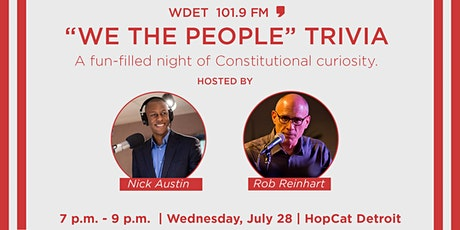 """WDET """"We The People"""" Trivia tickets"""