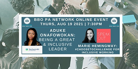 BBO PA Network ONLINE - 19/08/2021 - Diversity & Inclusion tickets