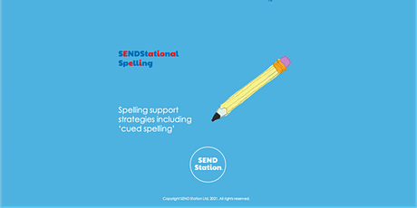 SENDStational Spelling - Strategies including cued spelling tickets