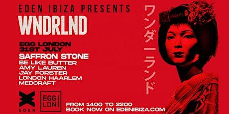 Eden presents WNDRLND W/ Saffron Stone - Rooftop Party tickets