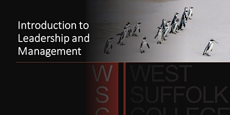 An Introduction to Leadership and Management tickets